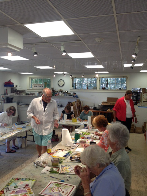 Kevin Dadloy teaching on art workshops on Nantucket